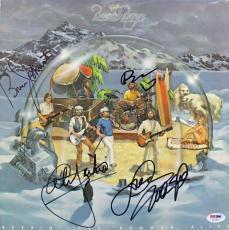 Beach Boys- Wilson, Love, Jardine & Johnston Signed Album Cover PSA/DNA #U03497