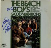 Beach Boys X2 Autographed Good Vibrations Album Cover AFTAL UACC RD COA