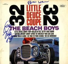 Beach Boys X2 Autographed Little Deuce Coup Album Cover AFTAL UACC RD COA