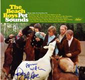 Beach Boys X2 Autographed Pet Sounds Album Cover AFTAL UACC RD COA