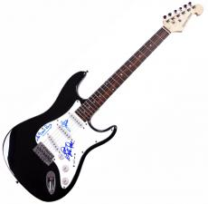 Beach Boys X2 Mike Bruce Autographed Signed Guitar AFTAL UACC RD COA