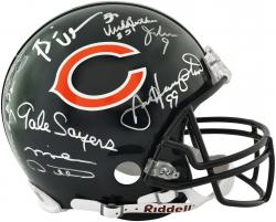 Chicago Bears Autographed Pro Line Riddell Authentic Helmet with 8 Signatures