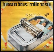 Beastie Boys Band Signed 23x23 Poster Autograph Signed By All 3!! Psa/dna Loa