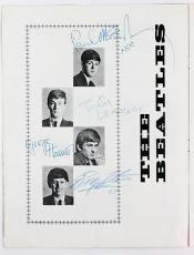 Beatles (4) Harrison, Lennon, Mccartney & Starr Signed Tour Program PSA #Y01271