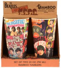 Beatles Album Collage 2 PC 24 oz Bamboo Tumbler Set