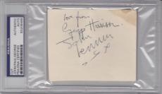 BEATLES All 4 Signed Cut Slabbed PSA/DNA Lennon, McCartney, Harrison & Starr