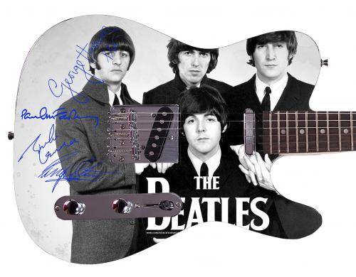 Beatles Facsimile Signature  Custom Graphics Guitar
