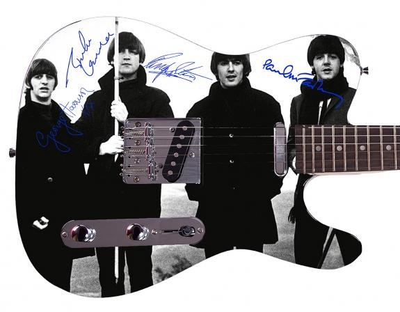 Beatles Facsimile Signature  Custom Graphics Guitar