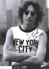 Beatles Autographed Facsimile Signed John Lennon New York City Sleeveless Poster
