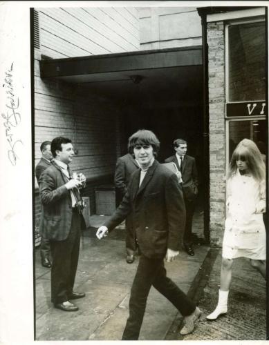Beatles George Harrison Signed Autographed 11x14 Beatles Era Photo Beckett BAS