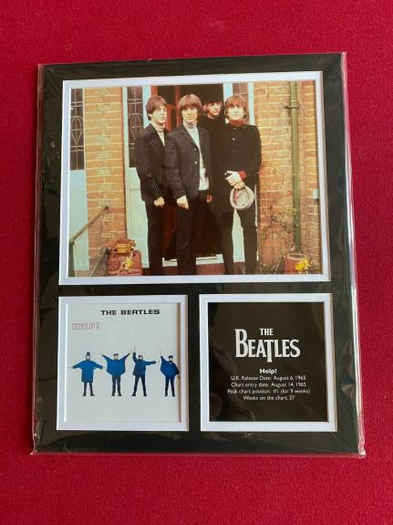 """Beatles, """"HELP"""" Licensed Matted, 8x10 Photo Collage (Scarce/Vintage) McCartney"""