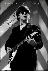 Beatles John Lennon Autographed Signed Smoking Poster