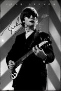 Beatles John Lennon Facsimile Signature   Smoking Poster