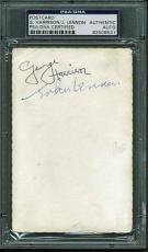 Beatles John Lennon & George Harrison Dual Signed Autographed Fan Card PSA/DNA