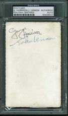 Beatles John Lennon & George Harrison Dual Signed Autographed Fan Card PSA/DNA