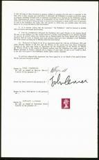 Beatles John Lennon & Neil Aspinall  Signed 1968 Publishing Contract BAS #A86831