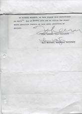 Beatles John Lennon Signed Apple Music Document 3 Weeks B4 Breakup Caiazzo Loa