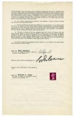 Beatles John Lennon Signed Autographed Sexy Sadie Contract Aspinall PSA/DNA
