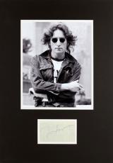 Beatles John Lennon Signed & Matted 3.25x4.5 Cut Signature JSA #Y34751