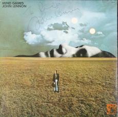 BEATLES JOHN LENNON SIGNED MIND GAMES ALBUM SUPERB AUTOGRAPH CAIAZZO & COX COAs