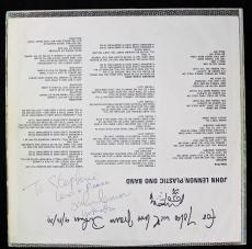 Beatles John Lennon & Yoko Ono Signed Autographed Album Sleeve GRADED 9 PSA/