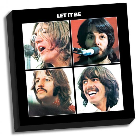 Beatles Let It Be 20x20 stretched canvas Paul McCartney John Lennon Ringo Starr