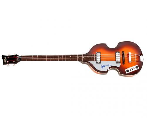 Beatles Paul McCartney Autographed Beatles White Album LP Hofner Bass Guitar AFT