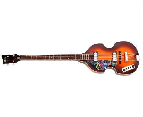 Beatles Paul McCartney Autographed Sgt Peppers Album Hofner Bass Guitar AFTAL UA