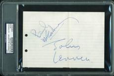 Beatles Paul McCartney John Lennon Signed Autographed 5x8 PSA/DNA