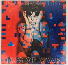 Beatles Paul McCartney Signed Autographed Tug Of War Album Beckett BAS Perry Cox
