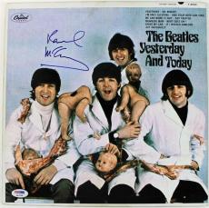 Beatles Paul Mccartney Signed Yesterday & Today Butcher Cover Album Psa/dna Coa