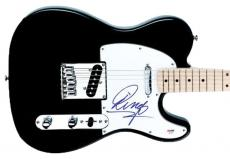 Beatles Ringo Starr Rare Signed Black Electric Guitar Psa/dna Coa #q02583
