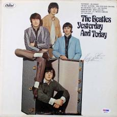 Beatles Ringo Starr Signed Yesterday & Today Record Album Psa/dna Coa  Q02752