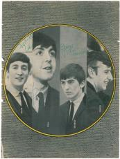 Beatles Signed Autographe 8x11 Photo w/ McCartney Lennon Harrison Starr PSA/DNA