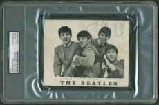 Beatles Signed Autographed Fan Club Photograph Harrison Lennon McCartney PSA/DNA