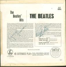 Beatles Signed Autographed Hits Album 45 LP George Harrison Ringo Starr PSA/DNA