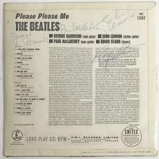 Beatles Signed Autographed Please Please Me Album Lennon McCartney +2 PSA/DNA 9
