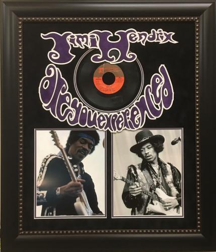 "Beautiful Jimi Hendrix Signed ""Hey Joe"" Record Album Display JSA & Epperson COA"