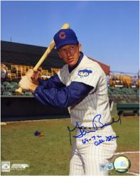 "Glenn Beckert Chicago Cubs Autographed 8"" x 10"" Bat Pose Photograph with 69-72 All Star Inscription"