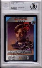 Beckett-bas 1995 Mark Hamill Autographed-signed Wing Commander Ccg Promo Card 43
