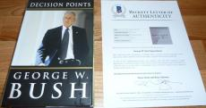 Beckett-bas 1st Edition George W Bush Decision Points Autographed-signed Book 46