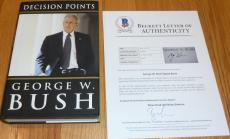 Beckett-bas George W Bush Decision Points Autographed-signed Book A09084