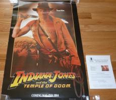 Beckett-bas Harrison Ford Indiana Jones Temple Of Doom Autographed-signed Poster