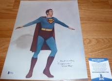 "Beckett-bas Kirk Alyn Inscribed ""superman"" Autographed-signed 11x14 Photo C77242"