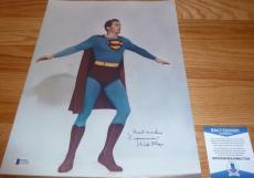 "Beckett-bas Kirk Alyn Inscribed ""superman"" Autographed-signed 11x14 Photo C77243"