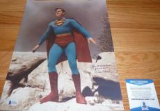 "Beckett-bas Kirk Alyn Inscribed ""superman"" Autographed-signed 11x14 Photo C77246"