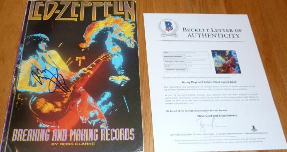 Beckett-bas Led Zeppelin Jimmy Page-robert Plant Autographed-signed 1992 Book 33