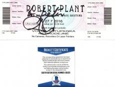 Beckett-bas Robert Plant Of Led Zeppelin Autographed-signed 2016 Full Ticket 221