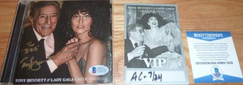 Beckett-bas Tony Bennett Autographed-signed Cheek To Cheek With Lady Gaga Cd 155