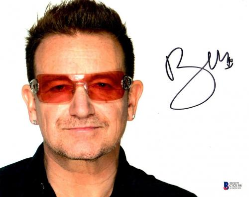 Beckett-bas U2 Bono Autographed-signed 8x10 Photograph With Proof Photo C52154